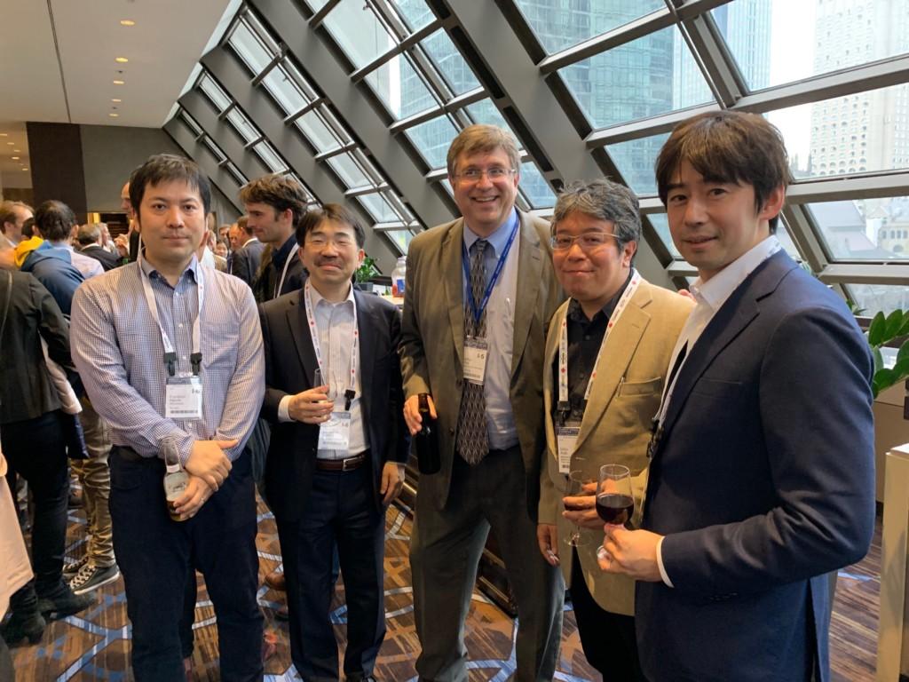 GE Research Circle 2019@パリにて(中央がGE社のプロジェクトリーダー J. Murray氏)