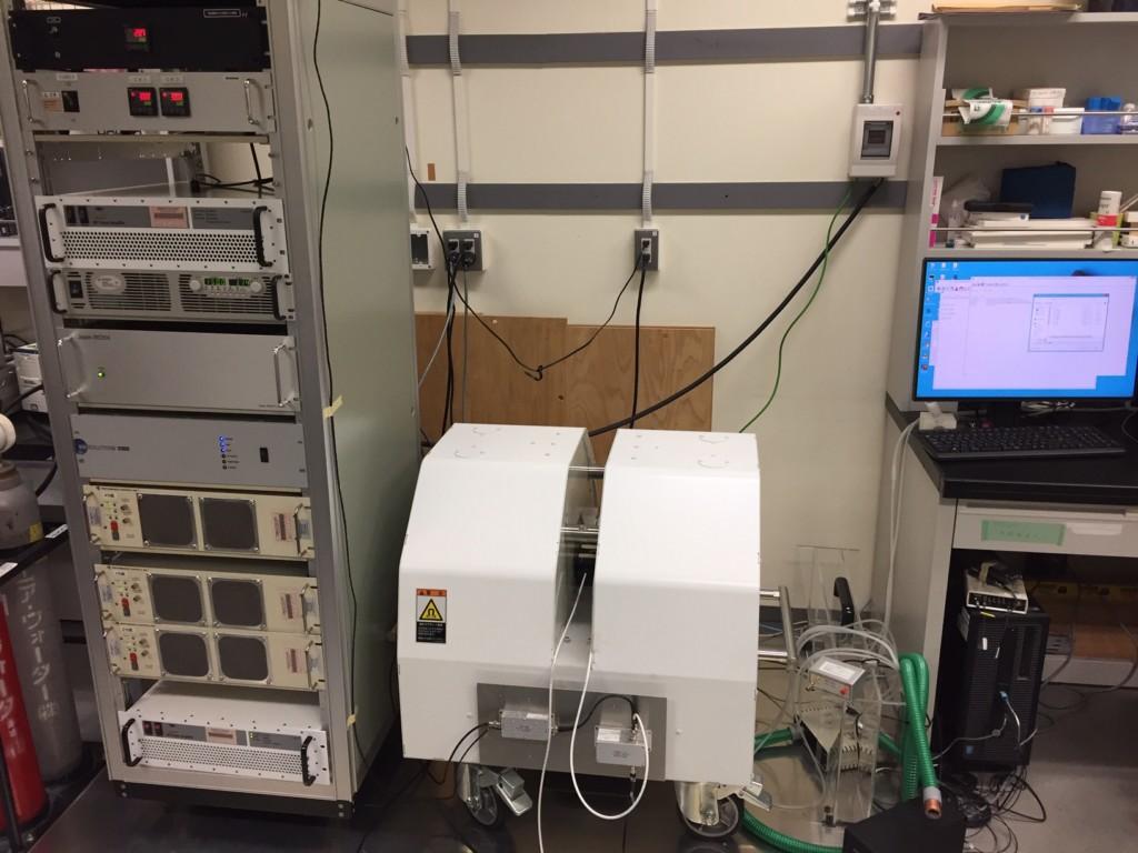 1H/13C MRI装置@1.5T(自作機)